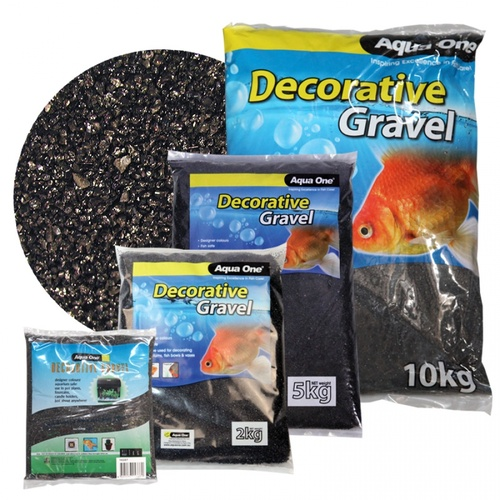 Aqua One Decorative Gravel Black Silica 10Kg