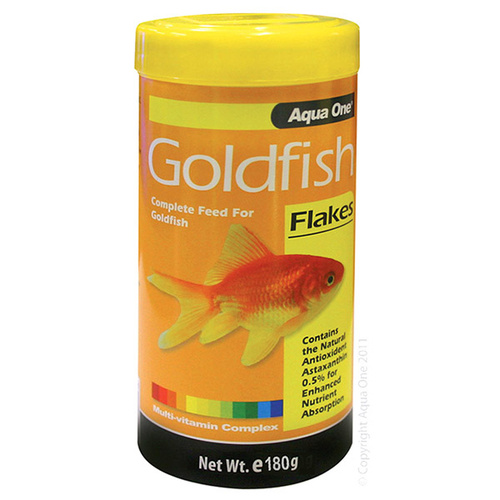 Aqua One Goldfish Flakes 180g